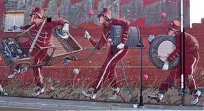 Artful Marching Band Graffiti in Detroit Royalty Free Stock Photos