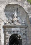 Artful ornaments at the historic gate Neutor in Salzburg, Austria stock photo