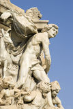 Artful statues in Marseille Royalty Free Stock Photo