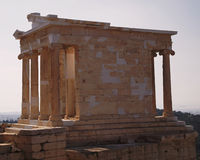 Arthens Ελλάδα, ο ναός Αθηνάς Στοκ φωτογραφία με δικαίωμα ελεύθερης χρήσης