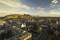 Arther seat and Edinburgh Royalty Free Stock Photo