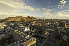 Arther Sitz und Edinburgh Lizenzfreies Stockfoto