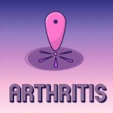 Arthrite d'écriture des textes d'écriture La maladie de signification de concept causant l'inflammation et la rigidité douloureus illustration de vecteur