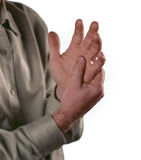Arthritis. Pain in the joints of the knuckles stock photography