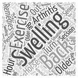 Arthritis and the Older Horse Remedies word cloud concept vector background Stock Images