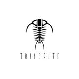 Arthropod fossil trilobite paleozoic era vector design. Template Stock Photography