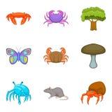 Arthropod icons set, cartoon style. Arthropod icons set. Cartoon set of 9 arthropod vector icons for web isolated on white background Stock Image