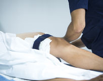 Arthroscopy knie van de Traumatology de orthopedische chirurgie Stock Foto