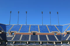 Arthur Ashe Stadium in Billie Jean King National Tennis Center klaar voor US Opentoernooien Royalty-vrije Stock Fotografie