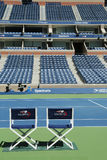 Arthur Ashe Stadium at the Billie Jean King National Tennis Center ready for US Open tournament in New York Stock Photos
