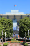 Arthur Ashe Stadium at the Billie Jean King National Tennis Center ready for US Open tournament Royalty Free Stock Photos
