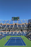 Arthur Ashe Stadium at the Billie Jean King National Tennis Center ready for US Open tournament Royalty Free Stock Photography