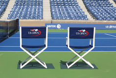 Arthur Ashe Stadium at the Billie Jean King National Tennis Center ready for US Open tournament Royalty Free Stock Photo