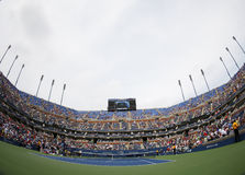 Arthur Ashe Stadium in Billie Jean King National Tennis Center tijdens US Open 2013 Royalty-vrije Stock Foto's