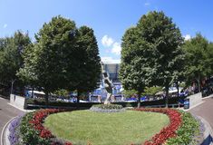 Arthur Ashe Stadium chez Billie Jean King National Tennis Center pendant l'US Open 2013 Images stock