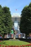 Arthur Ashe Stadium chez Billie Jean King National Tennis Center prête pour le tournoi d'US Open Image stock