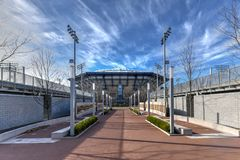 Arthur Ashe Stadium - Flessinga, New York fotografia stock libera da diritti