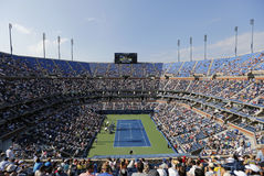 Arthur Ashe Stadium during match at US Open 2014 at Billie Jean King National Tennis Center Royalty Free Stock Photo