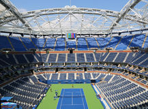 Arthur Ashe Stadium nuevamente mejorado en Billie Jean King National Tennis Center Fotos de archivo