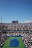 Arthur Ashe stadium podczas us open mężczyzna półfinału dopasowania między Novak Djokovic Nishikori i Kei zdjęcia royalty free