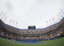 Arthur Ashe stadium przy Billie Cajgowego królewiątka tenisa Krajowym centrum podczas us open 2013 Zdjęcia Royalty Free
