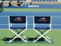 Arthur Ashe stadium przy Billie Cajgowego królewiątka tenisa Krajowym centrum przygotowywającym dla us open turnieju w Nowy Jork obrazy royalty free