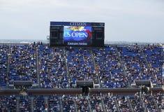 Arthur Ashe stadium tablica wyników przy Billie Cajgowego królewiątka tenisa Krajowym centrum obrazy royalty free