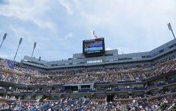 Arthur Ashe stadium tablica wyników przy Billie Cajgowego królewiątka tenisa Krajowym centrum zdjęcia stock