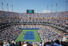 Arthur Ashe Stadium during US Open men semifinal match between Novak Djokovic and Kei Nishikori Stock Photo