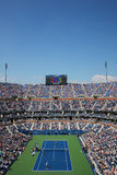 Arthur Ashe Stadium during US Open men semifinal match between Novak Djokovic and Kei Nishikori Royalty Free Stock Photos