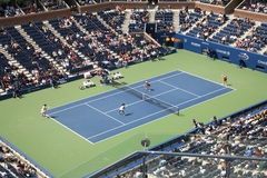 Arthur Ashe Stadium - US Open Tennis. 2010 US Open Women's Semifinals - Vania King and Yaroslava Shedova defeat Cara Black and Anastasia Rodionava 6-3 4-6 6-4 Royalty Free Stock Images