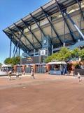 Arthur Ashe Tennis Stadium, errötend, Queens, New York, USA stockfotos