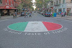 Arthur Ave Lilla Italien, NYC Fotografering för Bildbyråer