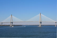 Arthur Ravenel Bridge in Charleston Stock Foto's