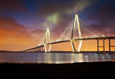 Arthur Ravenel Cooper River Suspension Bridge SC Royalty Free Stock Photo