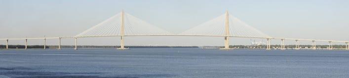 The Arthur Ravenel Jr. Bridge. Scenic view of the The Arthur Ravenel Jr. Bridge over the Copper river, Charleston Bay, South Carolina, U.S.A Stock Photography