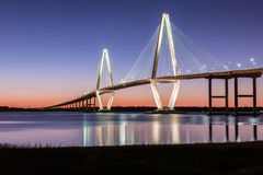 Arthur Ravenel Jr. Bridge Charleston SC. Arthur Ravenel Jr. Bridge at dusk - located in Charleston, SC Stock Image