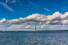 The Arthur Ravenel Jr. Bridge in Charleston, South Carolina. Royalty Free Stock Photos