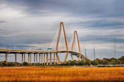 The Arthur Ravenel Jr.  Bridge that connects Charleston to Mount Royalty Free Stock Photography