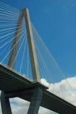 Arthur Ravenel Jr. Bridge / Cooper River Bridge. Arthur Ravenel Jr. Bridge, AKA/  the Cooper River Bridge in Charleston SC.  Taken from aboard tour boat Stock Photos