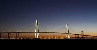 Arthur Ravenel Jr Bridge at twilight Royalty Free Stock Photography