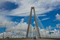 Arthur Ravenel, ponte do Jr Ponte, Charleston, SC Imagens de Stock Royalty Free