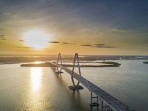 Arthur Revenel Bridge Lizenzfreies Stockbild