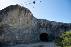 Arthur`s Head and The Whaler`s Tunnel of Round House Prison. Was the first permanent building built in the Swan River Colony at Fremantle port city in Perth royalty free stock photography