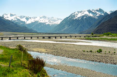 Arthur's Pass bridge, New Zealand Royalty Free Stock Photo