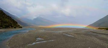 Arthur's Pass Mountain Rainbow Royalty Free Stock Photos