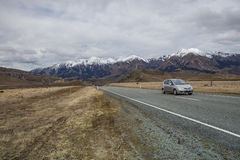 ARTHUR'S PASS ,NEW ZEALAND-SEPTEMBER 2 : suv traveling car on hi Royalty Free Stock Photography