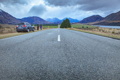 ARTHUR'S PASS  NEW ZEALAND - SEPTEMBER 2 : visitor taking a phot Royalty Free Stock Image