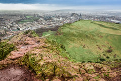 Arthur's Seat in a rainy day Stock Photos
