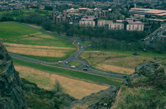 Arthur`s Seat Road Junction stock photos